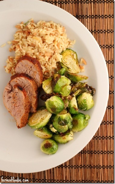 pork and brussels sprouts