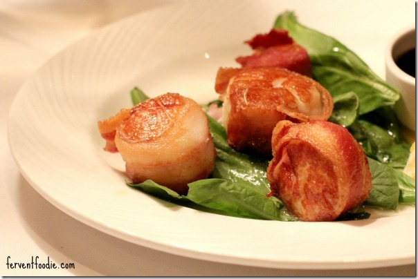 the palm charlotte bacon wrapped scallops